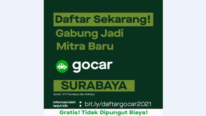 Gojek buka kesempatan menjadi mitra baru GoCar Surabaya.