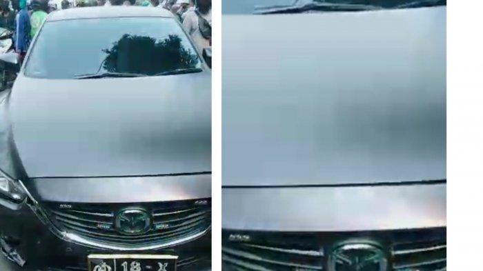 Mobil Berplat Dinas Polisi Terlibat Kecelakaan dengan Motor, Videonya Viral di Medsos