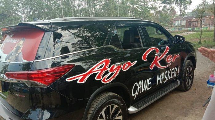 Unik, Mobil Dinas Kapolresta Malang Kota Jadi Alat Kampanye Prokes