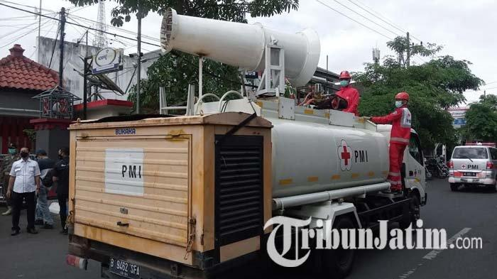PMI Tulungagung Dapat Bantuan Mobil Gunner Penyemprot Eco Enzim untuk Membunuh Virus