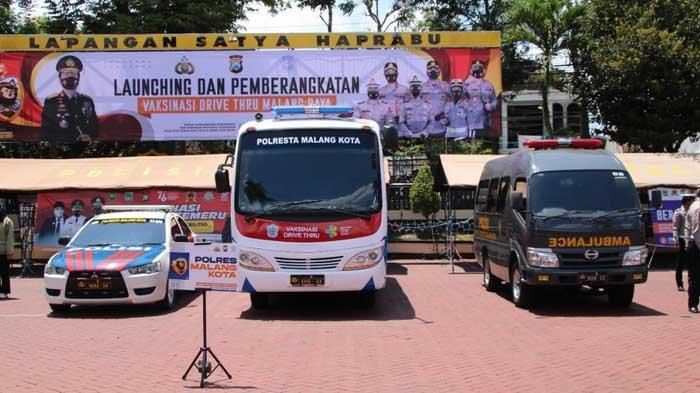 Permudah Warga Dapatkan Vaksin, Polresta Malang Kota Luncurkan Pojok Vaksin dan Vaksinasi Drive Thru