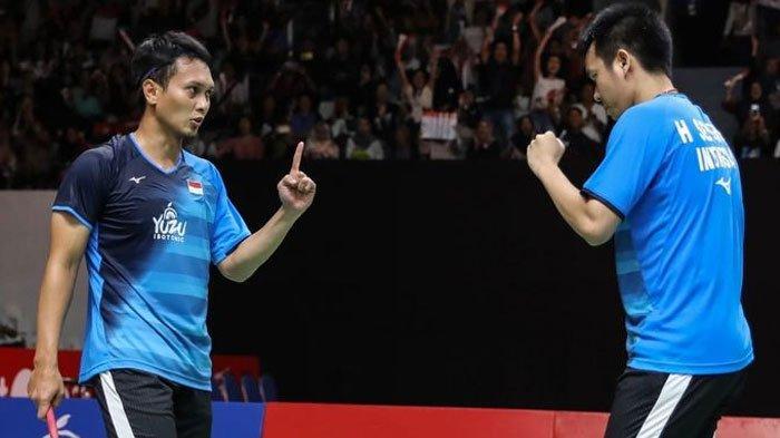 Menangi Pertandingan Derbi Merah Putih, Ahsan/Hendra Genggam Tiket Final Indonesia Masters 2020