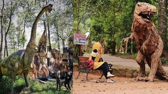 Harga Tiket Masuk Mojosemi Forest Park, Ada Banyak Koleksi Replika Dinosaurus, Bak di Jurassic Park