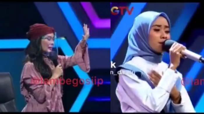 Iis Dahlia Hentikan Peserta Nyanyi saat Live, Naik Panggung, 'Mau Kayak Nissa Sabyan?' Host Tak Enak