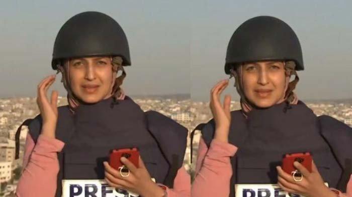 Detik-detik Mencekam Reporter Wanita Siaran di Tengah Serangan Roket Israel ke Gaza: Ya Tuhan