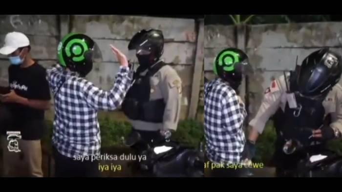 Polisi Ini 'Berdosa' Pegang Badan Pengendara Motor, Tak Tahu yang Diperiksanya Cewek: Udah Tanggung