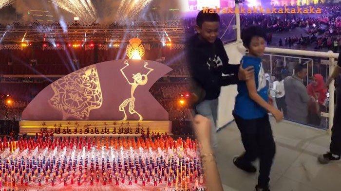5 Momen Menarik Closing Ceremony Asian Para Games 2018, Rossa Soroti Tingkah Anaknya: Terciduk