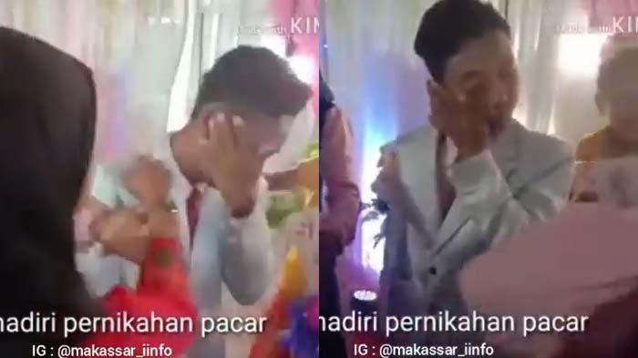 Cewek Ngamuk Ditinggal Mantan Nikah, 'Hajar' Sang Cowok di Pelaminan, Banjir Tangis, Lihat Endingnya