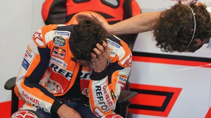Tangis Haru Marc Marquez Bisa Sentuh Garis Finis MotoGP Portugal 2021