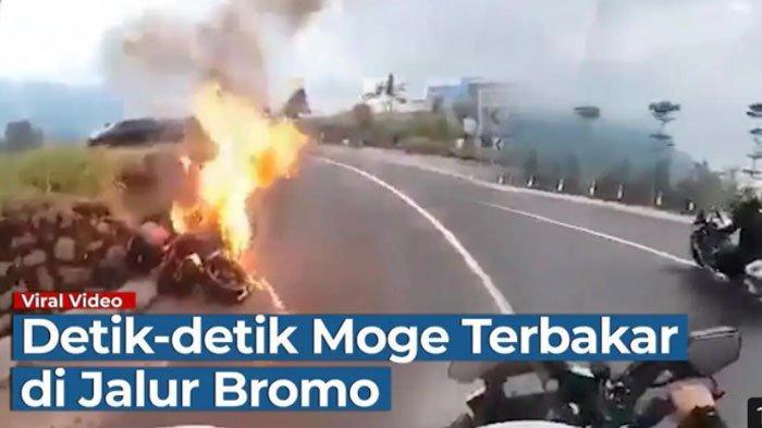 Detik-detik Ducati Terbakar di Jalur Wisata Bromo, Rekan Ungkap Gejala Sebelum Muncul Api