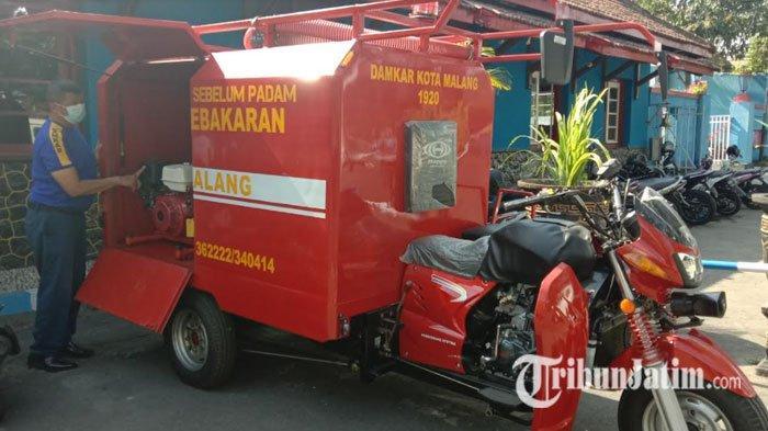 Permudah Proses Pemadaman, Motor Roda Tiga Dijadikan Unit Kendaraan Terbaru Damkar Kota Malang