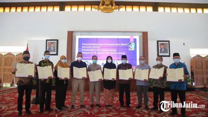 Percepat Program Pemulihan Ekonomi di Banyuwangi. Bupati Ipuk Gandeng 13 Perguruan Tinggi Swasta