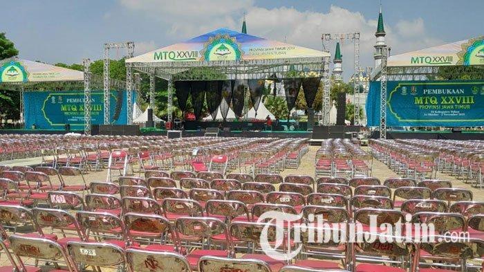Penutupan MTQ Jatim di Alun-alun Tuban Dimeriahkan Band Letto, Ratusan 500 Personil Disiagakan