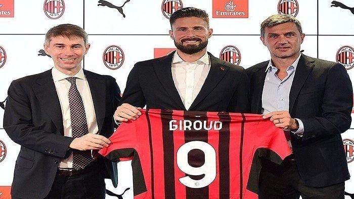 Resmi Berseragam AC Milan, Oliver Giroud Kenakan Nomor 9