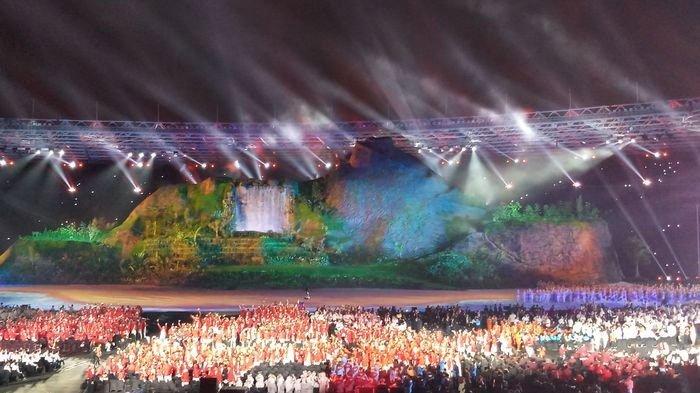 Mengintip Momen Para Artis di Balik Panggung Pembukaan Asian Games 2018, Berdoa hingga Nyanyi Bareng