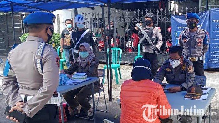Hari Terakhir PPKM Kota Kediri, Operasi Yustisi Masih Menjaring Banyak Pelanggar Protokol Kesehatan