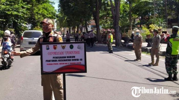 Gencar Operasi Yustisi di Tengah PPKM Mikro Kota Kediri: Tidak Makai Masker Ditindak Tegas