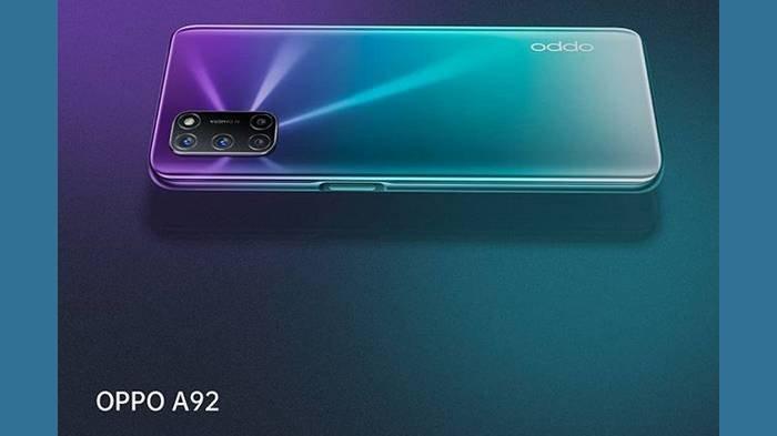 Oppo A92 6 GB Dibanderol Rp 3,599 Juta, Baterai 5.000 mAh, Ada warna Twilight Black & Aurora Purple
