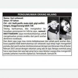 Bogor-Surabaya, Seorang Ayah Terlunta Ingin Bertemu Buah Hatinya di Panti Asuhan Don Bosco Surabaya
