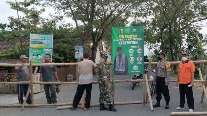 Jelang Lebaran Ketupat, Jalan Kampung di Durenan Trenggalek Diportal, Cegah Warga Luar Masuk