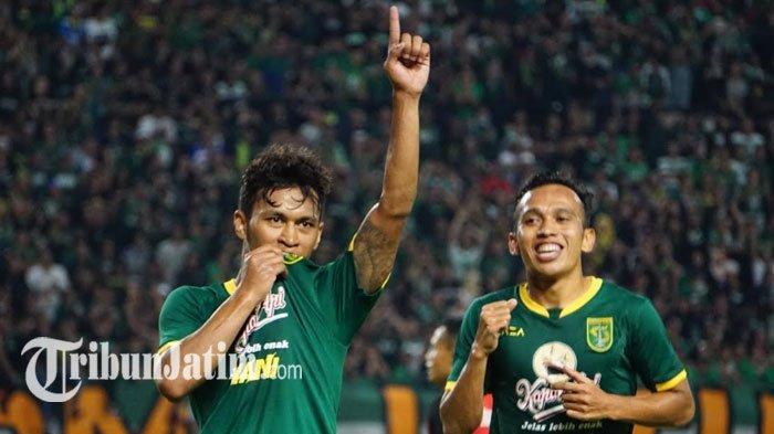 Osvaldo Haay Enggan Berkomentar Soal Selebrasi Cium Logo Persebaya seusai Cetak Gol ke Gawang Persis
