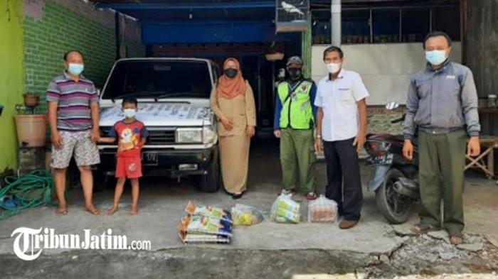 Puluhan Warga Isolasi Mandiri di Kota Kediri Terima Paket Sembako, Pemkot Ingatkan 'Di Rumah Saja'