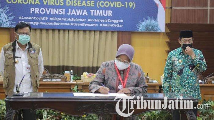 NEWS VIDEO: Surabaya Raya Siap New Normal, 3 Kepala Daerah Teken Komitmen Penanganan Covid-19