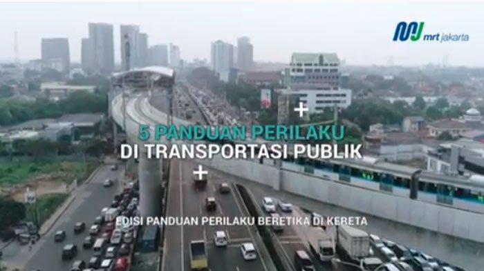 Video Panduan Perilaku Beretika Naik MRT Jakarta Beserta Larangannya, Jokowi Ingatkan Jangan Nyampah