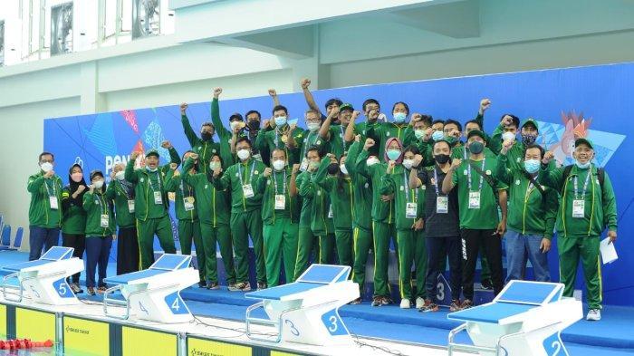 Sabet 12 Medali Emas, Jatim Juara Umum Selam Kolam PON XX Papua 2021, Pecahkan 4 Rekor Nasional