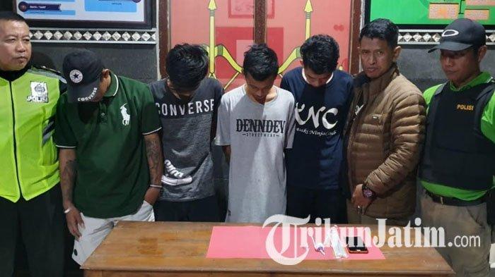 Empat Pria Jombang Ini Diringkus Polisi di 4 Tempat Berbeda, Pergoki Bawa Plastik Klip Sabu