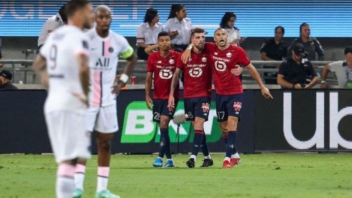Paris Saint-Germain gagal menjadi juara Piala Super Prancis usai kalah dari Lille tanpa Kylian Mbappe dan Neymar Junior.