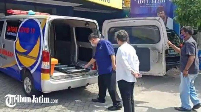 Bantuan Ambulans dan Mobil Jenazah Tiba di Kantor NasDem Jatim, Dipakai Bantu Penanganan Covid-19