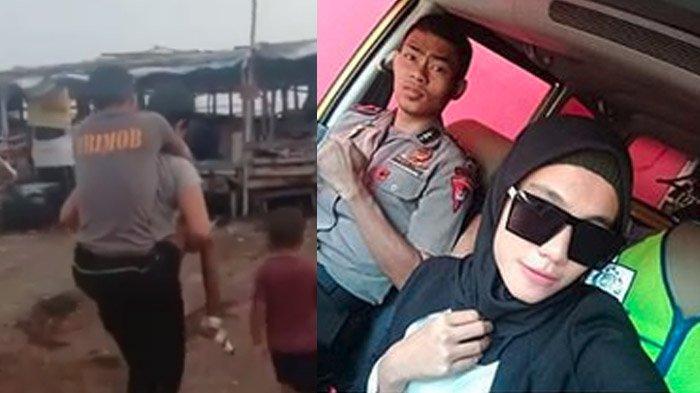 VIRAL Cerita Sebenarnya Video Istri Polisi Gendong Suami Lumpuh, Lihat Foto Lawas Mereka, Banjir Doa