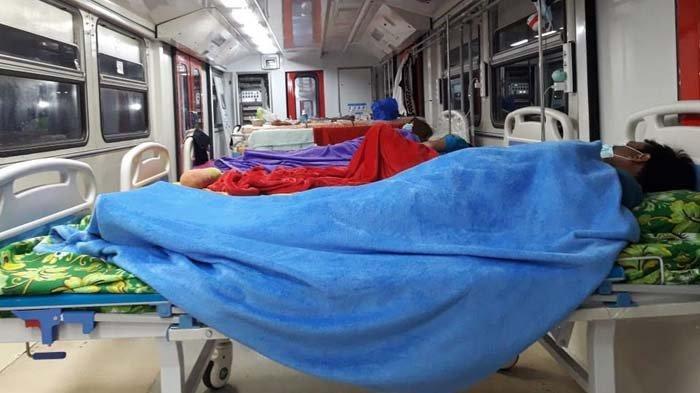 Kereta EMT INKA Terisi Pasien Covid-19, Jumlah Penghuni Melonjak Selama Dua Minggu Terakhir
