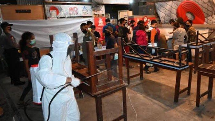 Polda Jatim Gencarkan Patroli Aman Nusa II, Pengunjung Warkop Bersuhu Tinggi Rapid Test On The Spot