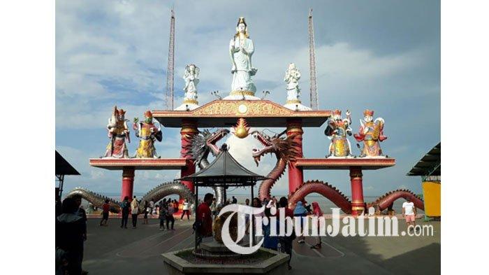 Harga Tiket Masuk Kenjeran Park, Wisata Populer Surabaya, Bisa Renang hingga Swafoto Pagoda Tian Ti