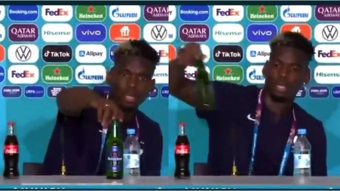 Heboh Lagi, Paul Pogba Turunkan Minuman Beralkohol, Sebelumnya Ronaldo Singkirkan Minuman Bersoda