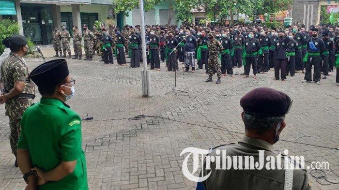 1500 Pasukan Banom NU Gelar Apel Siaga Pilkada Tuban Aman dan Damai: Bagian dari Bela Negara