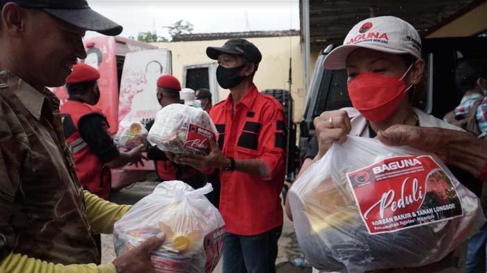 PDI Perjuangan Jawa Timur Salurkan 750 Paket Sembako untuk Korban Bencana Nganjuk