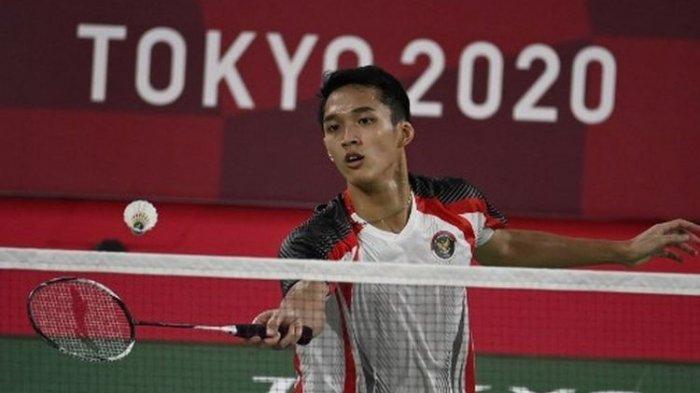 Hasil Bulu Tangkis Olimpiade Tokyo 2020 - Sikat Penakluk Lin Dan, Jonatan Christie Tembus 16 Besar