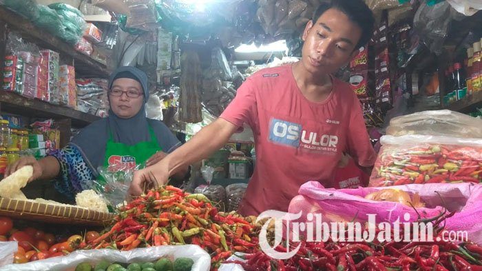 Harga Cabai Rawit di Pasar Wonokromo Surabaya Tembus Rp 50 Ribu Per Kg