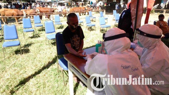 Jelang Idul Adha, Pedagang Hewan Kota Batu Jalani Rapid Test Covid-19, Petugas Targetkan 100 Orang