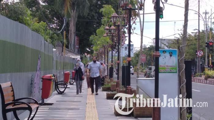 Proyek Pedestrian Sisi Timur di Jalan A Yani Nganjuk Intensif Disosialisasikan pada Masyarakat