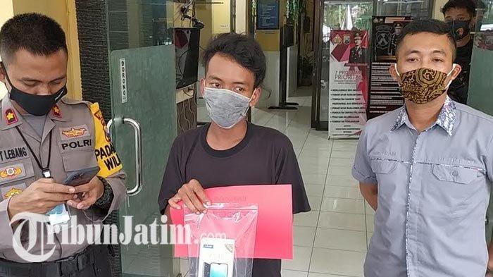 Pekerja Proyek di Surabaya Tertunduk Lesu Dikeler Tim Anti Bandit, Terkuak Curi HP: Pura-pura Ngopi