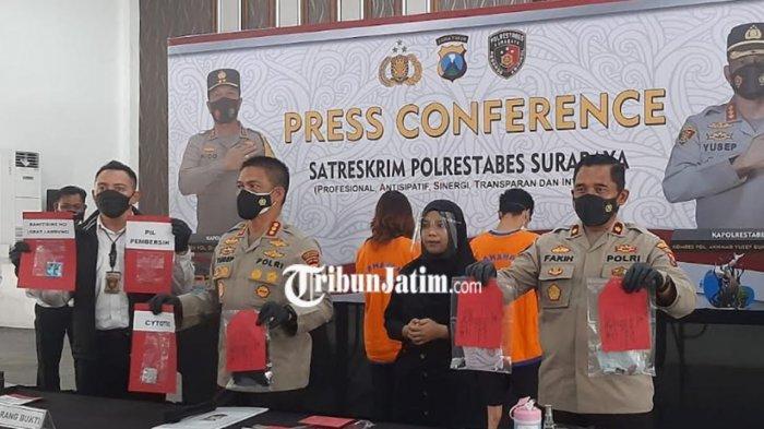 Dua Pelaku yang Buang Janin di Hotel Diamankan Unit Resmob Polrestabes Surabaya