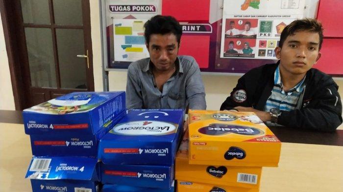 Bawa Tas Slempang, Dua Warga Surabaya Curi Susu Formula di Empat Minimarket di Gresik