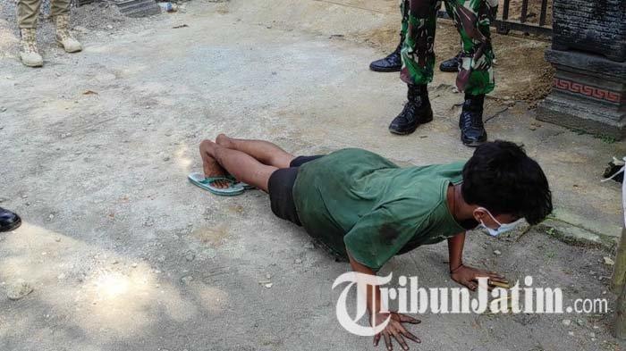 Terjaring Operasi Yustisi di Kota Blitar, Pelanggar Dikenai Sanksi Tipiring dan Disuruh Push Up
