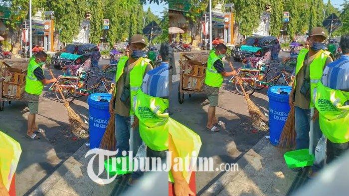61 Pelanggar Pedoman Masa Transisi New Normal di Gresik Nyapu Jalan, Disanksi Gegara Tak Maskeran