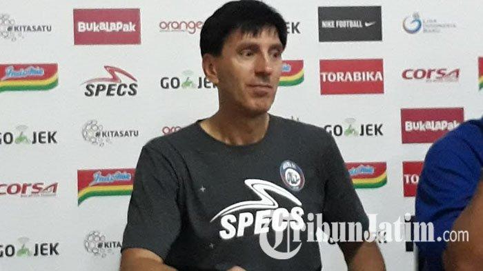 Pelatih Arema FC Milan Petrovic Tetap Patok Kemenangan saat Lawan Persija Meski Tanpa Sejumlah Pilar