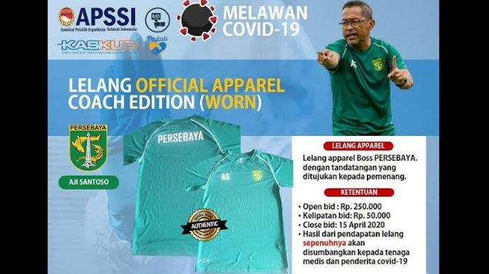 Pelatih Persebaya Lelang Jersey untuk Dukung Upaya Lawan Covid-19, Dibuka hingga 15 April 2020